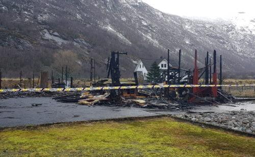 Branntomta der Ørsdalen kapell stod